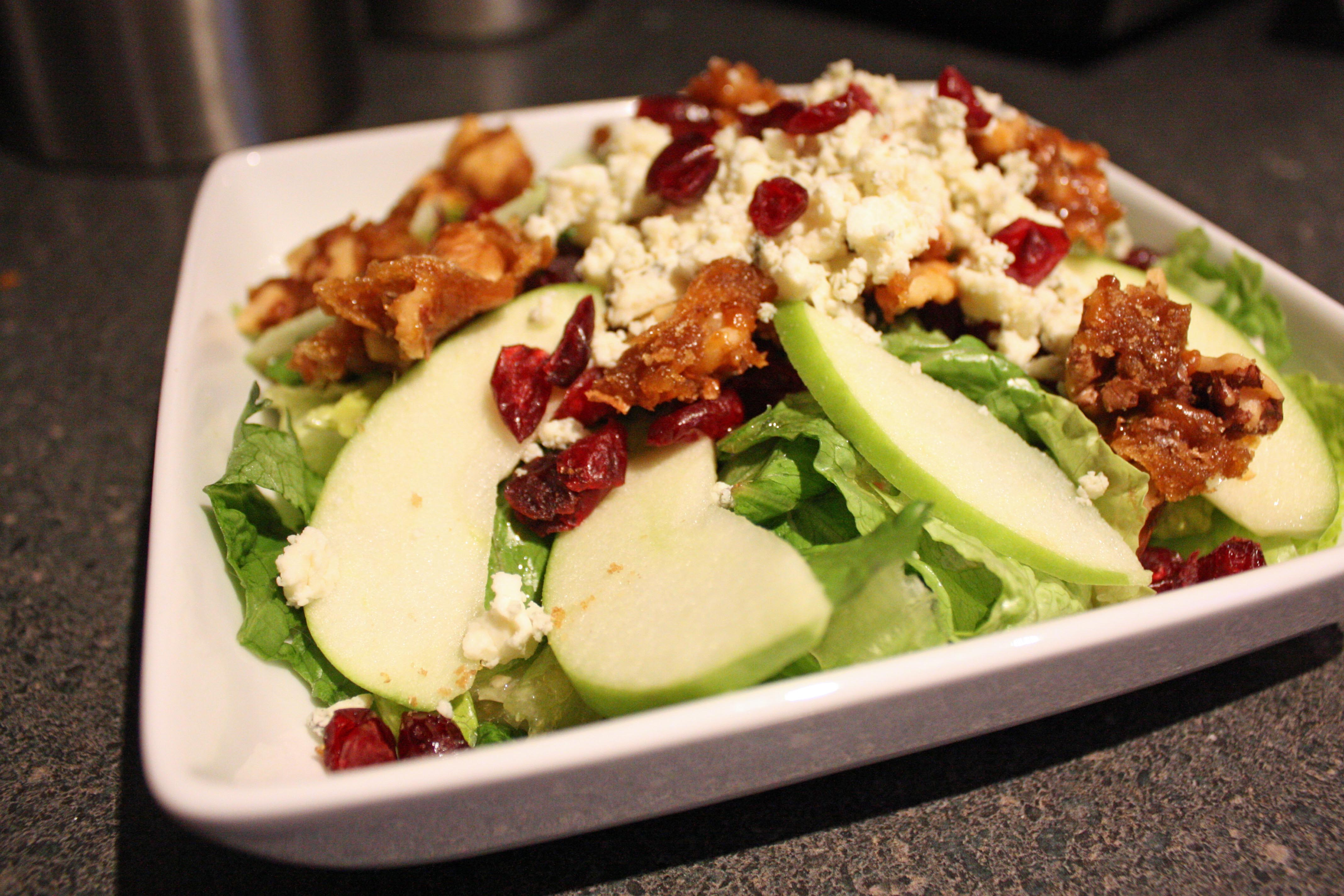 Walnut, Cranberry, and Blue Cheese Salad